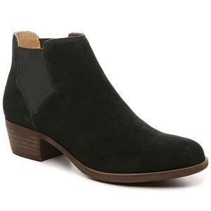 Lucky Brand-Bellamy Chelsea Black Suede Boot 7.5